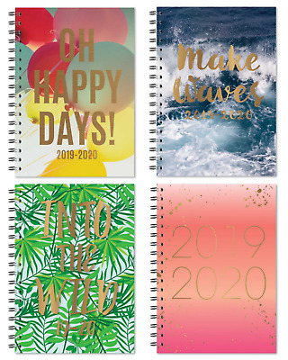 A5 - 2019-2020 Academic Diary Mid Year Week To View Student Hardback Spiral 3095