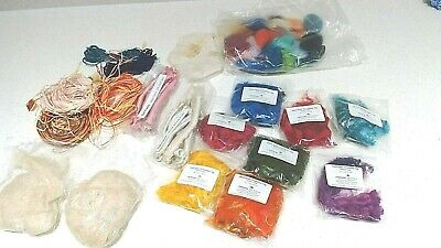 SILK FIBRES, RODS, MIXED LOT, PAPER STRING for Spinning, Felt, Paper cRAFTS etc