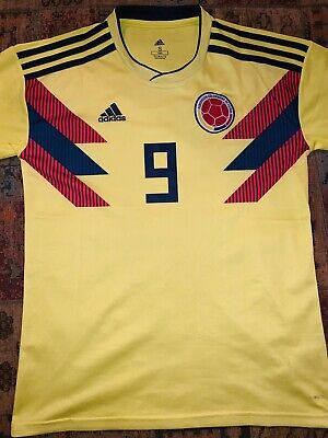 d06f8d972c2 Adidas Falcao  9 Colombia Official Home Men s Soccer Jersey World Cup 2018  Small