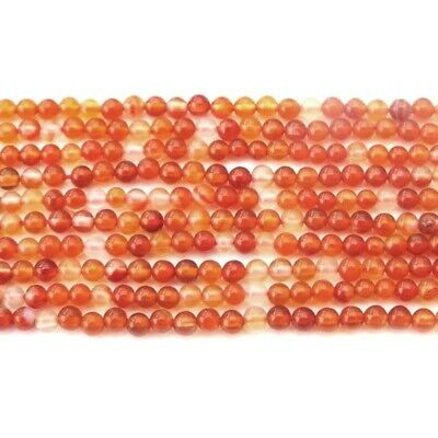 Carnelian Round Beads 2mm Orange/White 160+ Pcs Gemstones DIY Jewellery Making