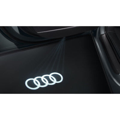 New Genuine Audi Accessory '4 Rings' Led Door Entry Lights Set - A3 A4 A5 A6 Tt