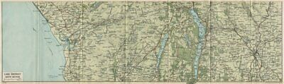 LAKE DISTRICT SOUTH. Ambleside Kendal Windermere Coniston Water Cumbria 1930 map