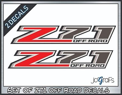 FHP stickers Chevy Silverado 4x4 Hot Pink set of 2-2017 Z71 Off Road Decals