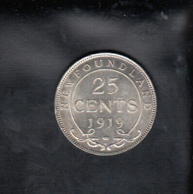 1919 C Newfoundland Silver 25 Cents