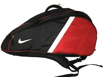 a86f902cbbad Nike 6 - 8 Tennis Racket Bag Black   Red Padded Backpack straps case
