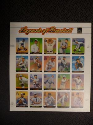 Scott #3408 Legends Of Baseball 33 Cent Sheet Of 20 FV $6.60 (MNH) SKU#14389