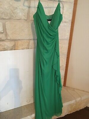 db0ad2d76a21b4 Women Spaghetti strap Cocktail Evening Party Long Emerald Green Dress Size 7  8