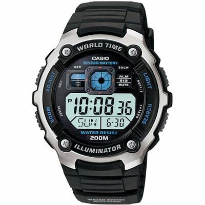 Casio Men's Core AE2000W-1AV Black Resin Quartz Watch with Digital Dial