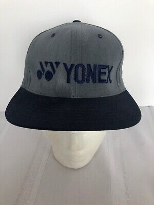 67c20b804e9 Yonex NWOT Adjustable grey blue Tennis Sports Cap Hat leather back strap  VTG USA