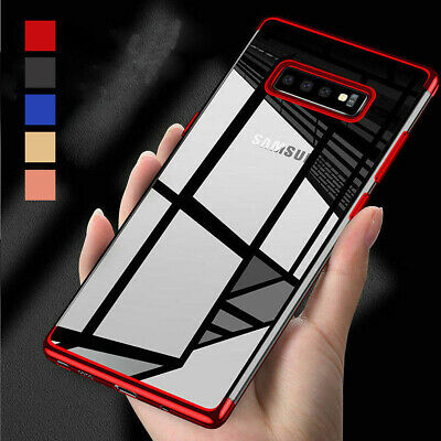 Thin Electroplate Clear Silicone Phone Case For Samsung Galaxy S10 S10 Plus S10e