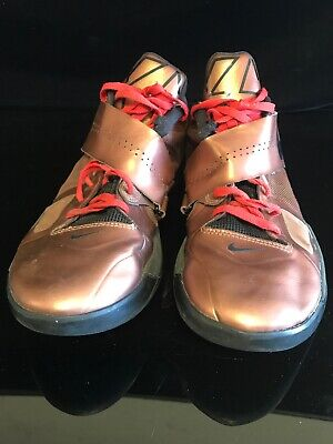 ab0cf874a176 NIKE ZOOM KEVIN DURANT KD IV 4 CHRISTMAS BRONZE GOLD BLACK RED 473679-700  11.5