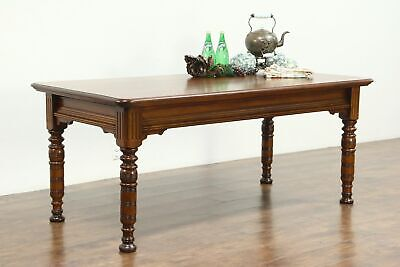 Victorian Eastlake 1880 Antique Library Table or Kitchen Island