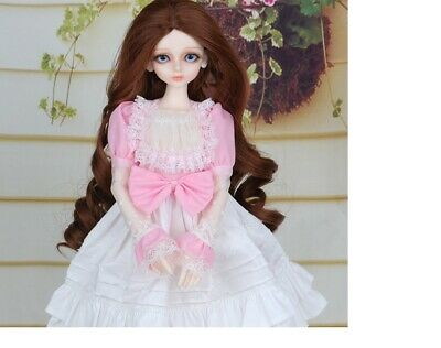 E15 1/4 Girl Super Dollfie Normal Skin Coordinate Model Fullset BJD Doll O