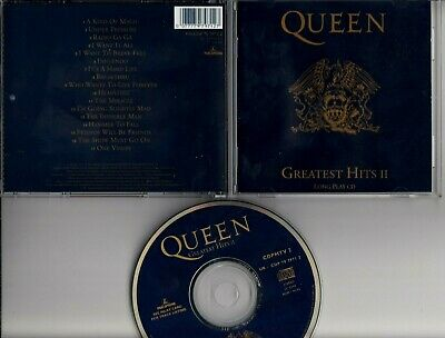 QUEEN Greatest Hits II 1991  CD LONG PLAY UNDER PRESSURE BOWIE CAPITOL CDPMTV2