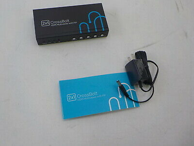 HDMI 2X1 MULTI-VIEWER With PIP POP 1080p Picture Division