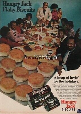 1974 Pillsbury Hungry Jack Biscuits African American Holiday Family