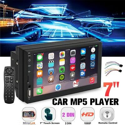 7'' Inch 2 DIN MP5 Car Auto Radio Video Stereo Player Bluetooth Touchable Screen