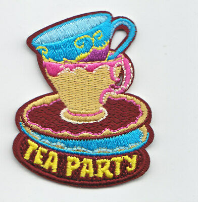 Boy Cub Girl Scout Fun Badge Patch~Tea Party
