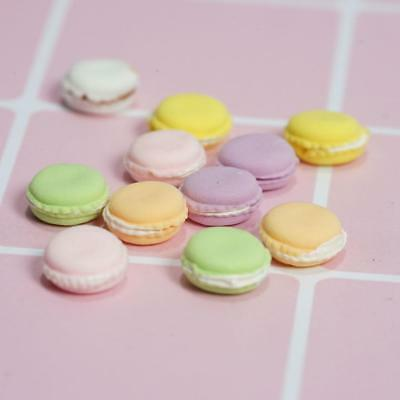 15 Doll House Miniature French Macarons Dessert Snack Bakery Food Cakes