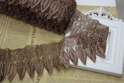1 Yard Wedding Sewing Applique Ribbon Crochet Embroidered Lace Edge Trim 05