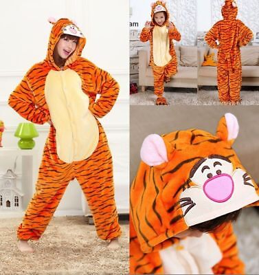 41b981bc3fc6 Tiger Unisex Adult Onesie9T Pajamas Kigurumi Cosplay Costume Animal  Sleepwear