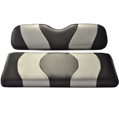 Madjax Wave Black/Silver Two-Tone Seat Covers | Club Car Precedent Golf Cart