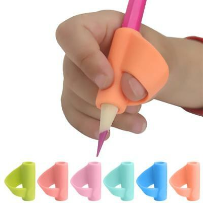 3X Silicon Pencil Grip Children Thumb Holder Ergonomic Training For Handwriting