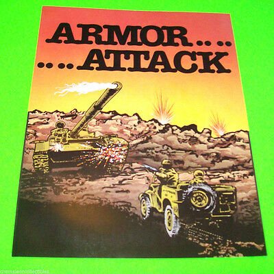 Cimematronics ARMOR ATTACK Original NOS 1980 Video Arcade Game Promo Sales Flyer