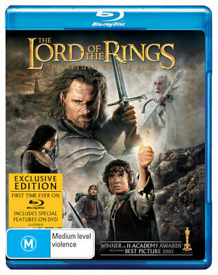 The Lord Of The Rings Return Of The King Blu-ray Region B New!
