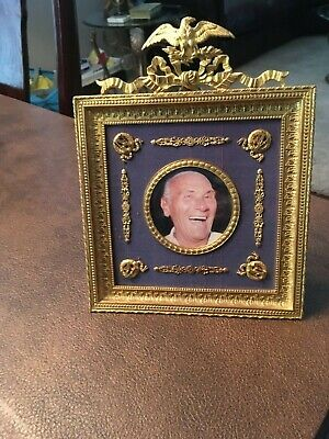 Antique French Empire gilt bronze  picture frame