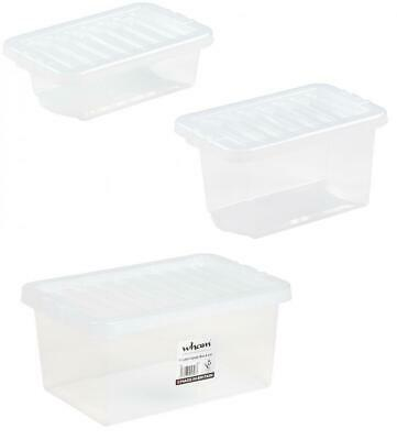 Wham Crystal  Clear Plastic Storage Box