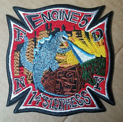 Godzilla NYFD  Patch 4 inches wide