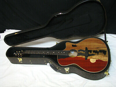 Luna Vista Eagle Tropical Woods Acoustic Electric Guitar W/ Ohsc Able New Musical Instruments & Gear