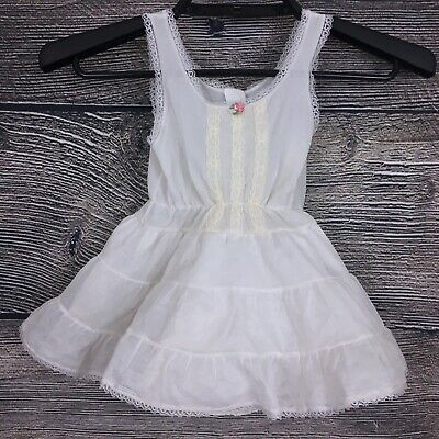 Vintage Miss Cherrydale 2T White Toddler Girls Ruffle Slip Petticoat Under Dress