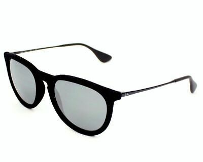 d644a9d0dc Ray Ban RB4171 60756G Black Velvet Frame Grey Mirrored Erika Sunglasses  Size 54