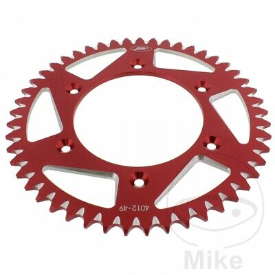 JMP Red Aluminium Rear Sprocket (49 Teeth) Honda CR 125 R 1995