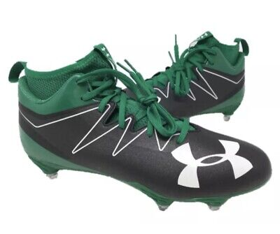 e3179a4caae 🔥NEW! UNDER ARMOUR Nitro MID D Football Cleats Size 14 Black Green ...
