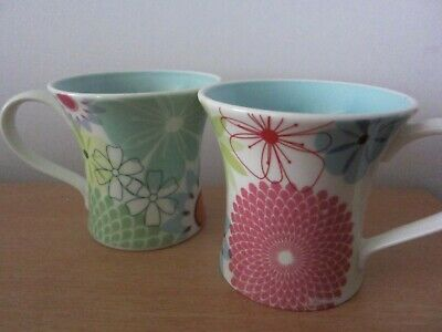 Portmeirion 2 Crazy Daisy Mugs - New And Perfect