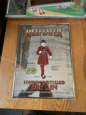 Beefeater Gin Mirror Back Sign 11x15