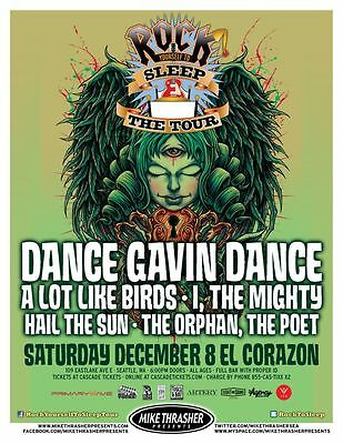 DANCE GAVIN DANCE 2012 Gig POSTER Seattle Washington Concert