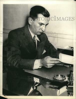 1933 Press Photo Louis Snyder Lawyer Paid $40000 to Kidnappers To Release Client