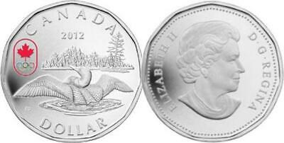 Canada - 2012 Olympic Lucky Loonie Proof $1 Silver Coin .9999 Fine with BOX/COA