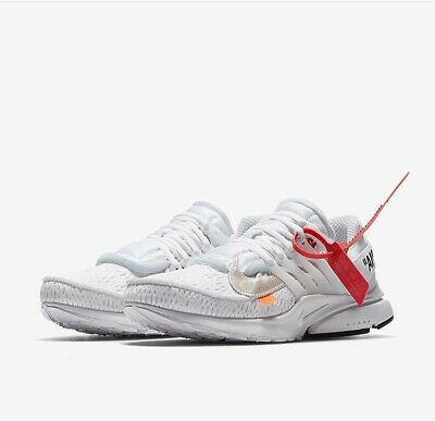outlet store 3608a a07d2 NIKE X OFF White Air Presto White 2018 Size 10.5 VIRGIL ABLOH THE TEN