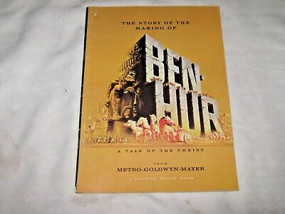 An Original Vintage 1959 Movie Theatre Storybook Ben Hur a tale of the christ