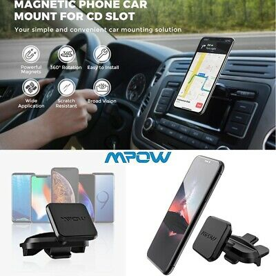 MPOW Universal 360° Car CD Slot Magnetic Mount Mobile Phone Holder for iPhone UK