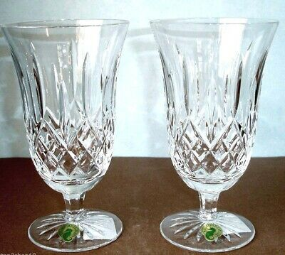 Waterford Lismore Footed Iced Beverage Glasses Set Of 2 New In Box