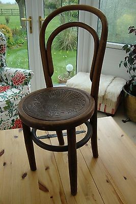 Antique Solid Wood Bentwood Small Child's Chair Occasional Bedroom Child Seat