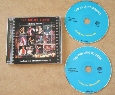 The Rolling Stones 2xCD's  Live In Hong Kong  (Vol. 2) 9 November 2003 + Bonus