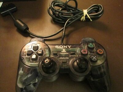 Sony DualShock 2 Clear PS2 Dualshock Game Controller Working READ