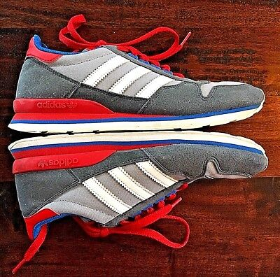 a9d6be16cfa ADIDAS ORIGINALS Mens Vintage Trainers Gray Red White Blue Sneakers SIZE US  6 !